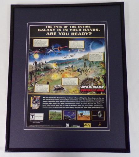 Star Wars Empire at War 2006 Framed 11x14 ORIGINAL Vintage Advertisement