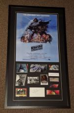 Star Wars Empire Strikes Back Cast Signed Framed 21x37 Poster Display PSA JSA