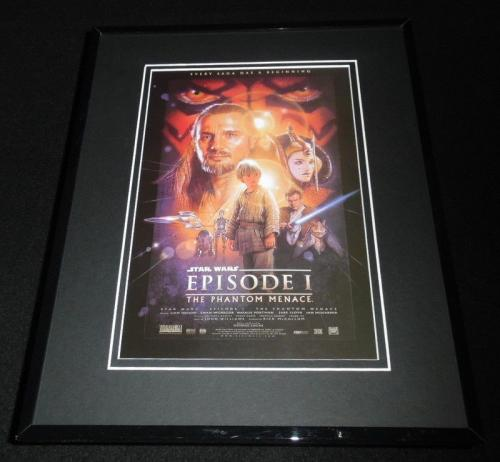 Star Wars Episode I Phantom Menace Framed 11x14 Repro Movie Poster Display