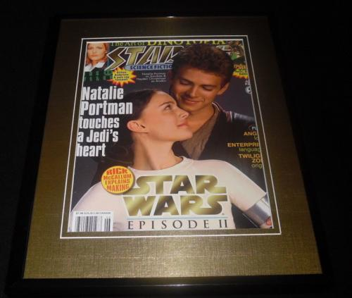 Star Wars Episode II Framed 11x14 ORIGINAL 2002 Starline Cover Natalie Portman