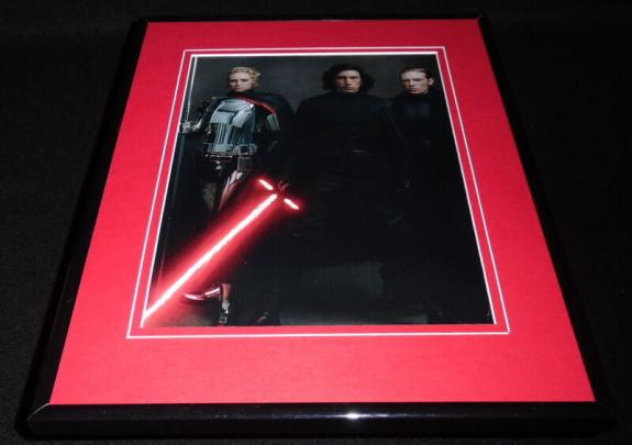 Star Wars Force Awakens Cast Framed 11x14 Photo Display Adam Driver Kylo Ren