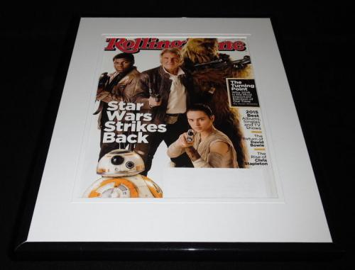Star Wars Force Awakens Framed 11x14 ORIGINAL 2015 Rolling Stone Magazine Cover