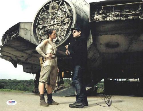 Star Wars Force Awakens Ridley and Abrams Autographed Signed 11x14 Photo PSA/DNA