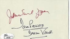 Star Wars James Earl Jones & David Prowse Signed Autographed Index JSA Authentic