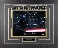 Star Wars James Earl Jones & David Prowse Signed & Framed 11X14 Photo PSA/DNA
