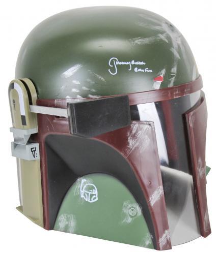 """Star Wars Jeremy Bulloch """"Boba Fett"""" Signed Deluxe Helmet w/ Sketch BAS #K89432"""