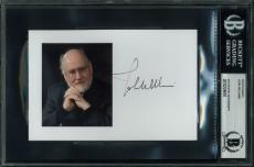 Star Wars John Williams Signed 4x6 Photo Autographed BAS Slabbed 1