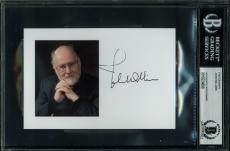 Star Wars John Williams Signed 4x6 Photo Autographed BAS Slabbed 3
