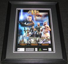 Star Wars Knights II 2004 Playstation 2 PS2 11x14 Framed ORIGINAL Advertisement