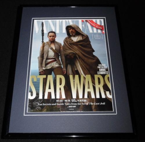 Star Wars Last Jedi Framed 11x14 ORIGINAL 2017 Vanity Fair Cover Daisy Ridley