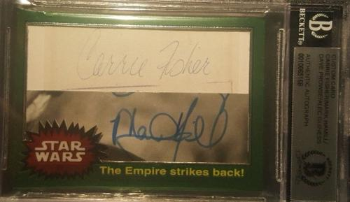 Star Wars Mark Hamill Carrie Fisher Alec Guinness Dave Prowse Signed BAS BECKETT