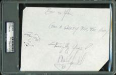 Star Wars Mark Hamill Signed Autographed Sketched 4x6 Album Page PSA/DNA