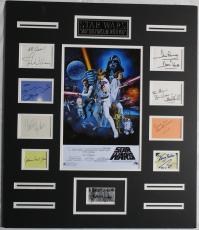 Star Wars Multi-Signed Auto Matted Display Fisher/Ford/Hamill +6 PSA/DNA#AD00699