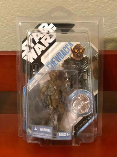 Star Wars Ralph Mcquarrie Concept Chewbacca 2007 Action Figure 30th Anniversary