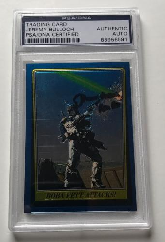 Star Wars Return Of The Jedi Boba Fett Jeremy Bulloch Signed Auto PSA/DNA