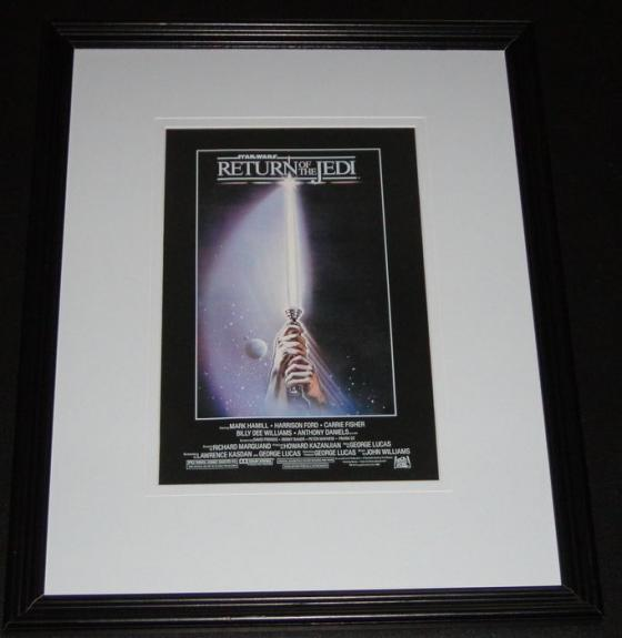 Star Wars Return of the Jedi Framed 11x14 Poster Display Official Repro