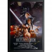 "Star Wars - Return of the Jedi Framed Autographed 30"" x 42"" Movie Poster with 12 Signatures - Beckett"