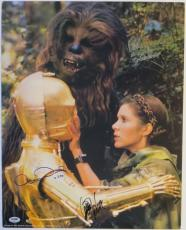 Star Wars Signed 16x20 Photo Carrie Fisher/Anthony Daniels/Peter Mayhew PSA/DNA
