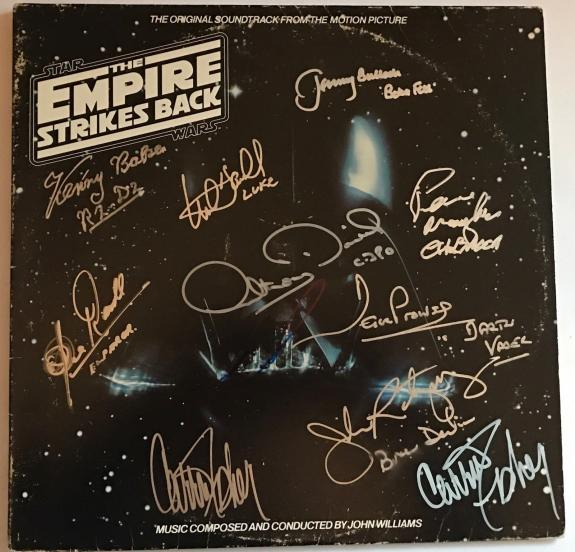 Star Wars signed album esb carrie fisher mark hamill kenny baker beckett loa
