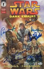 STAR WARS signed BAKER, DANIELS, FORD, FISHER, HAMILL & WILLIAMS - authenticated