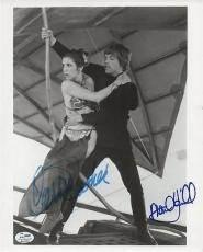 STAR WARS signed CARRIE FISHER & MARK HAMILL - authenticated