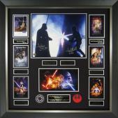 Star Wars Darth Vader vs Luke Skywalker Signed Poster Displa