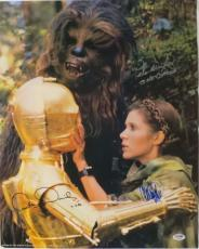 Star Wars Signed Fisher/Mayhew/Daniels Autographed 16x20 Photo PSA/DNA #AB14680