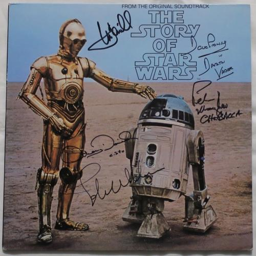 Star Wars Signed Williams/Hamill + 3 Autographed Album Cover PSA/DNA #AD00687