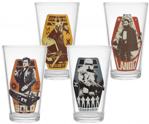 Star Wars Solo 4pc 16oz. Glass Set