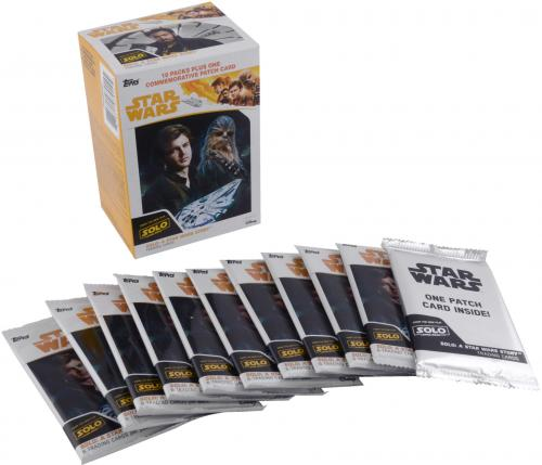 Star Wars Solo A Star Wars Story Topps Factory Sealed 10 Card Value Pack