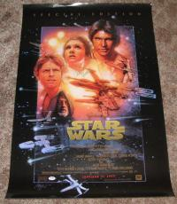 STAR WARS SPECIAL EDITION POSTER 23x35 SIGNED AUTOGRAPHED PSA DNA CARRIE FISHER