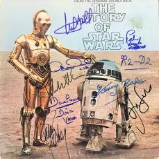 Star Wars Story Of Signed Album Cover Ford Fisher Hamill 8 Sigs Psa/dna Aa01351