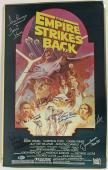 Star Wars TESB Signed Autographed 13x20 Metal Poster Fisher Hamill Beckett BAS