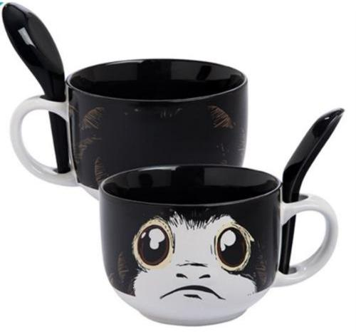 Star Wars the Last Jedi Porg 20 oz. Ceramic Soup Mug with Spoon