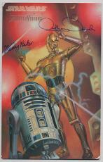 STAR WARS TOPPS SIGNED PSA DNA KENNY BAKER & ANTHONY DANIELS 8x11 TRADING CARD