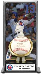 Starlin Castro Chicago Cubs Baseball Display Case with Gold Glove & Plate