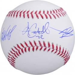 Starling Marte, Gregory Polanco & Andrew McCutchen Pittsburgh Pirates Multi Autographed Baseball