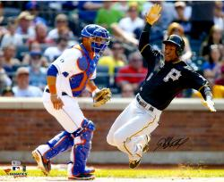 Starling Marte Pittsburgh Pirates Autographed 16'' x 20'' Sliding Home Photograph