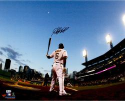 Starling Marte Pittsburgh Pirates Autographed 16'' x 20'' Waiting on Deck Photograph