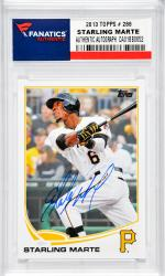 Starling Marte Pittsburgh Pirates Autographed 2013 Topps # 288 Card