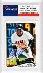 Starling Marte Pittsburgh Pirates Autographed 2014 Topps # 91 Card