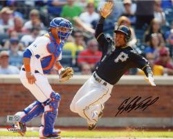 Starling Marte Pittsburgh Pirates Autographed 8'' x 10'' Sliding Home Photograph
