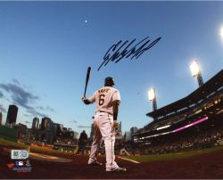 Starling Marte Pittsburgh Pirates Autographed 8'' x 10'' Waiting On Deck Photograph