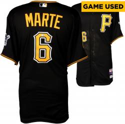 Starling Marte Pittsburgh Pirates Game-Used Black Jersey from 9/20/14 vs. Milwaukee Brewers