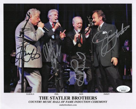 STATLER BROTHERS HAND SIGNED 8x10 PHOTO      SIGNED BY ALL+HAROLD REID       JSA