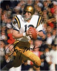 Roger Staubach Navy Midshipmen Autographed 8'' x 10'' Looking To Pass Photograph - Mounted Memories