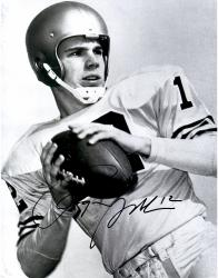Roger Staubach Dallas Cowboys Autographed 11'' x 14'' Black and White OL Helmet Photograph