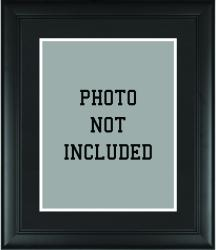 "Standard 11"" x 14"" Black Photo Frame with Matting"