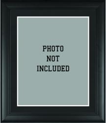 "Standard 16"" x 20"" Black Photo Frame with Matting"