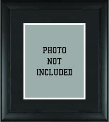Standard 8'' x 10'' Black Photo Frame with Matting - Mounted Memories